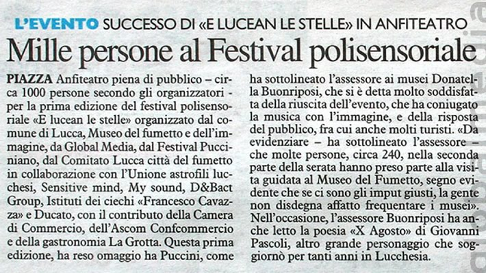 A thousand at the multisensorial festival - LUCCA